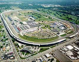 Aerial of 500 Mile Indianapolis Speedway